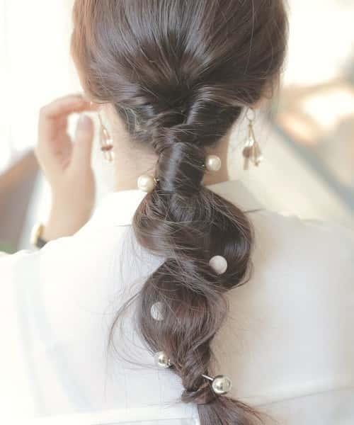 【結婚式】お呼ばれの髪型に♡セルフで簡単「くるりんぱ」講座